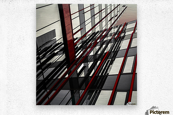 red lines by Gilbert Claes   Metal print