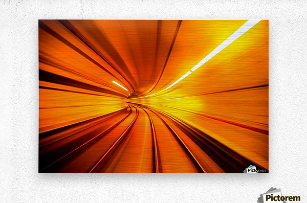 Wormhole  Metal print