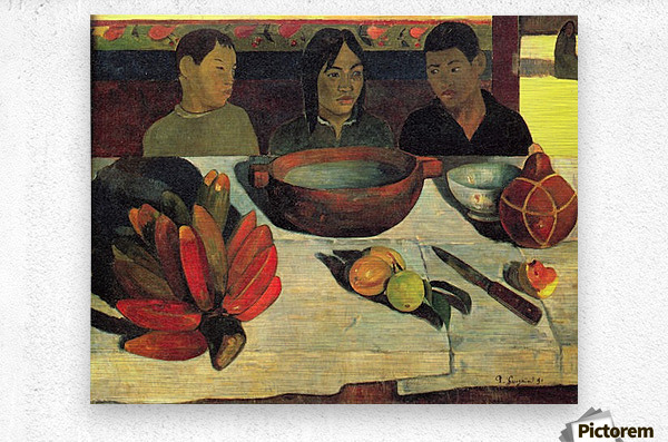 Still Life with Banana by Gauguin  Metal print