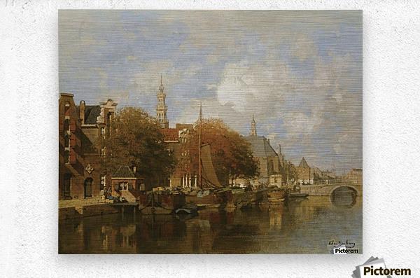 A capriccio view of the Oudezijds Voorburgwal, Amsterdam  Metal print