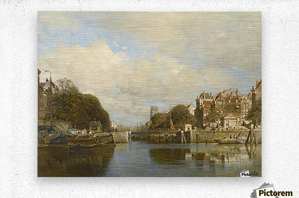 Rotterdam, with the Laurenskerk in the background  Metal print