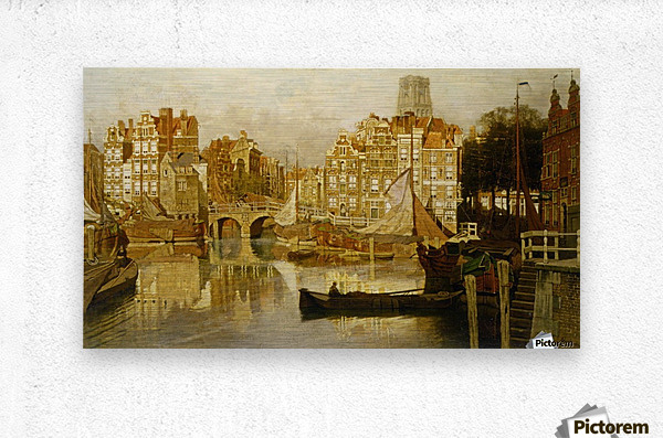 A view of the Blaak Rotterdam  Metal print
