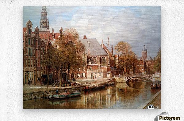 The Oude Kerk and Saint Nicolaaskerk  Metal print