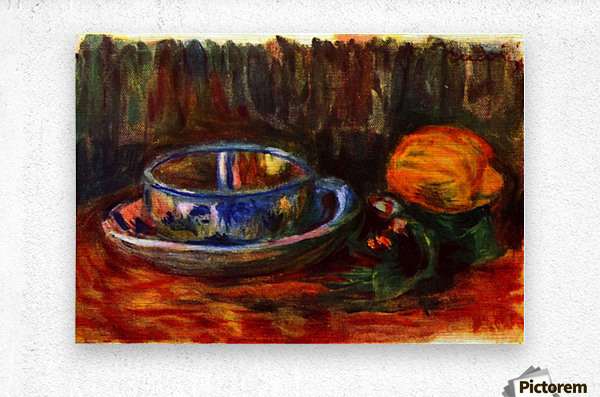 Still life with cup  Metal print