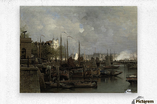 Oude haven with the Koningsbrug  Metal print