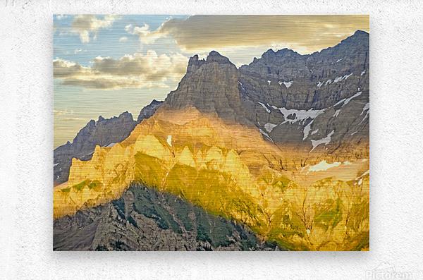 Golden Rays of the Sun Across the Swiss Alps  Metal print