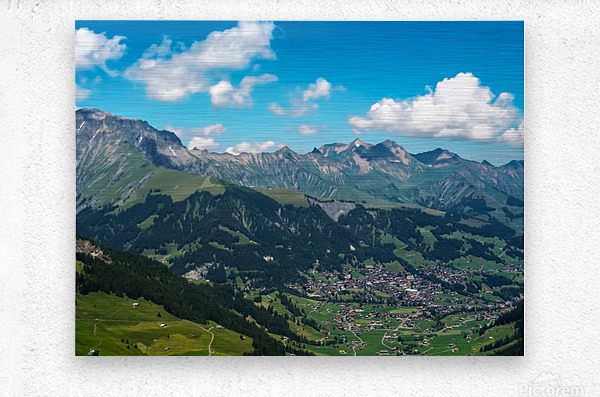 The Bernese Alps Switzerland  Metal print
