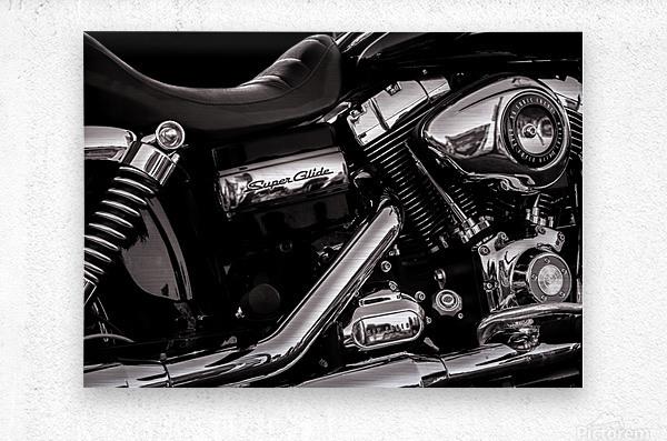 Motorcycle Number 1  Metal print