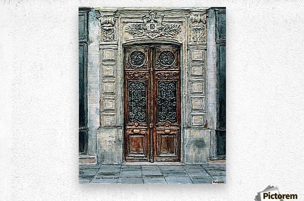 Parisian Door N0. 5-3  Metal print