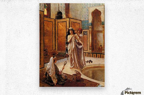 The harem bath  Metal print