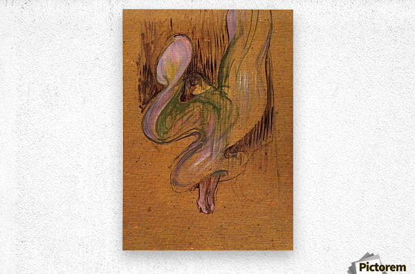 Study for Loie Fuller by Toulouse-Lautrec  Metal print