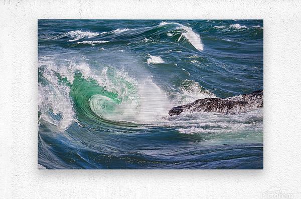 Wave Curl ap 2663  Metal print