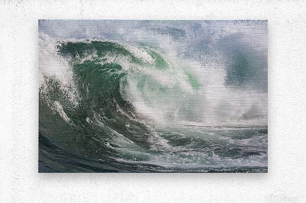 Wave Curl ap 2672  Metal print
