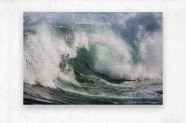 Wave Curl ap 2674  Metal print