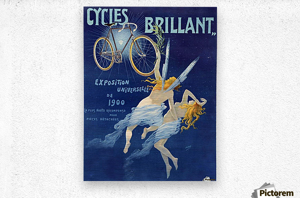 Cycles brillant  Metal print
