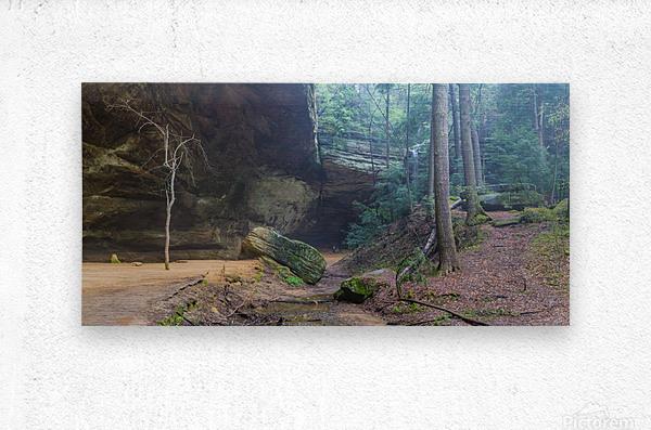 Ash Cave Entrance apmi 1641  Metal print