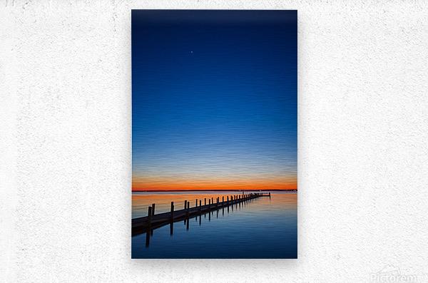 Twilight Sunset ap 1607  Metal print