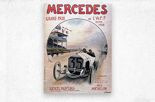 Mercedes Grand Prix  Impression metal