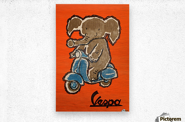 Vespa  Impression metal
