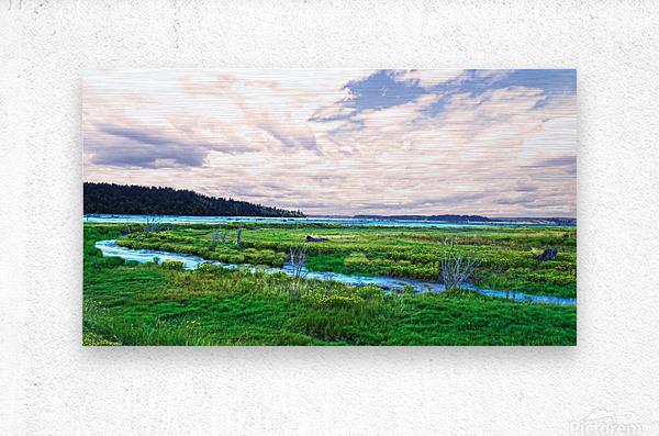 The Estuary in Fall  Metal print