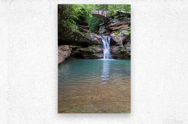 Upper Falls ap 2058  Metal print