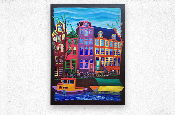 Amsterdam in November  Metal print