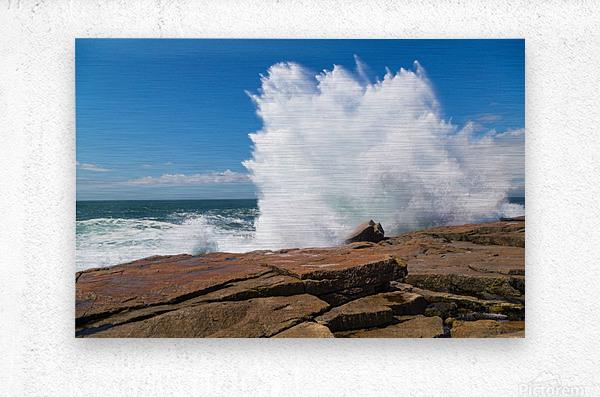 Crashing Wave ap 2309  Metal print