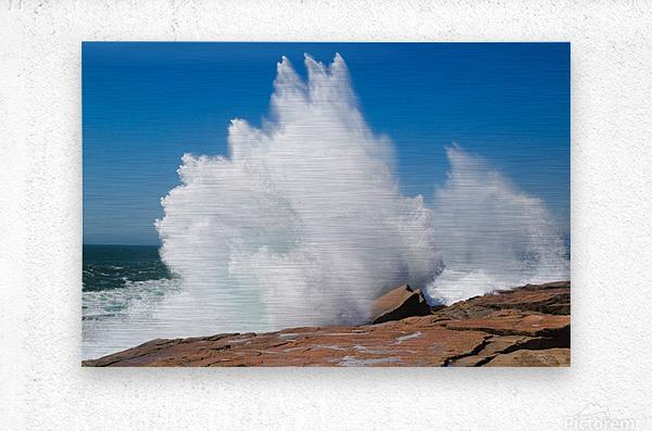 Crashing Wave ap 2320  Metal print