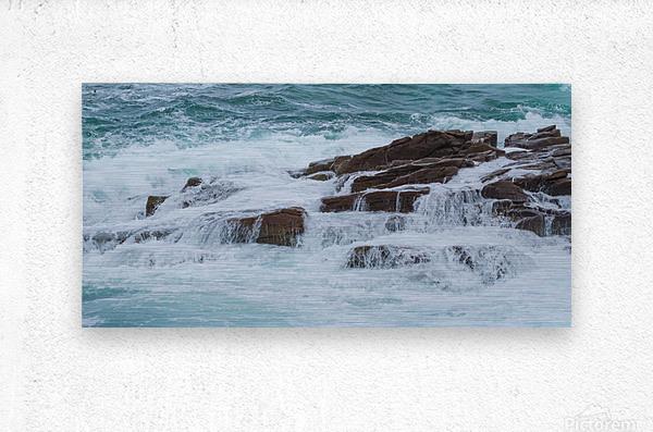 Crashing Waves ap 1535  Metal print