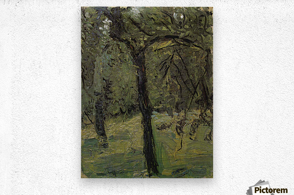 Sunny Meadow with fruit trees by Richard Gerstl  Metal print