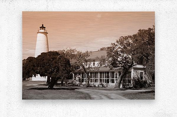 Ocracoke Light ap 1743 B&W  Metal print