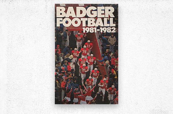 1981 Wisconsin Badgers Football Poster  Metal print