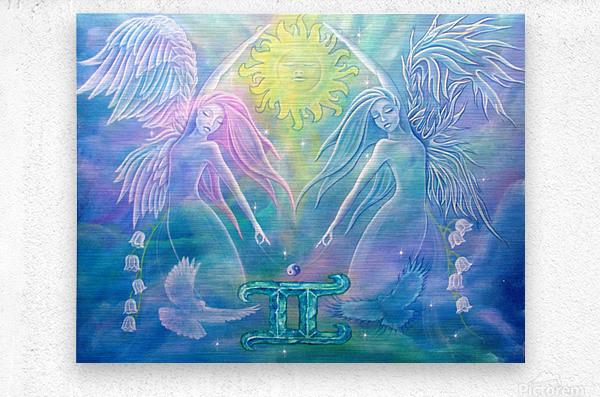 Gemini Angels  Metal print