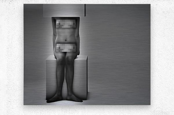 Life In A Box 1Illusion Contemplation   Metal print