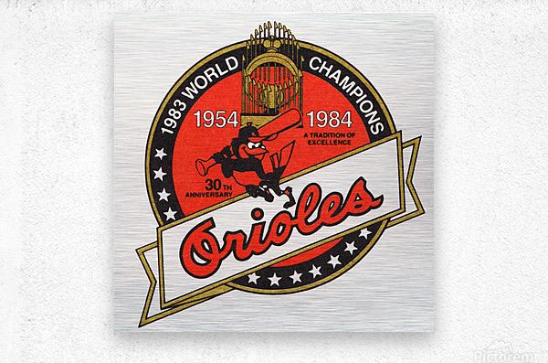 1983 Baltimore Orioles World Champions Art  Metal print