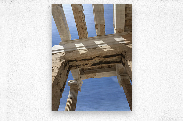 Acropolis of Athens Greece  Metal print