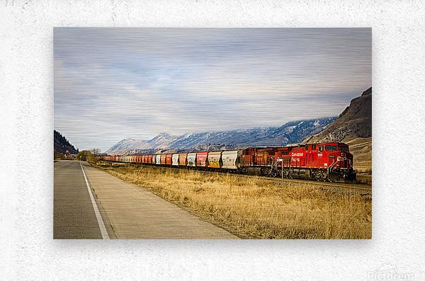 Great Canadian Railroad  Metal print