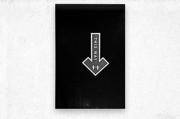 This Way  Metal print