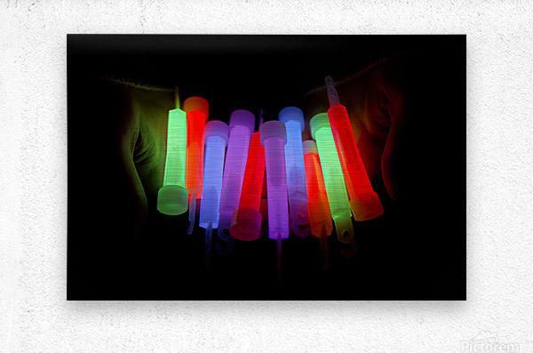 Lightstick  Metal print