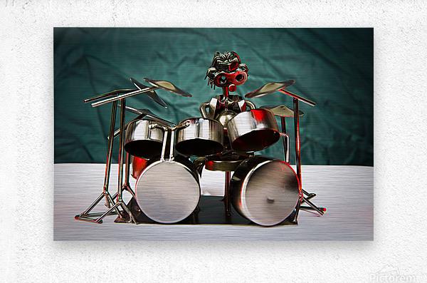 Nuthead on the Drums  Metal print
