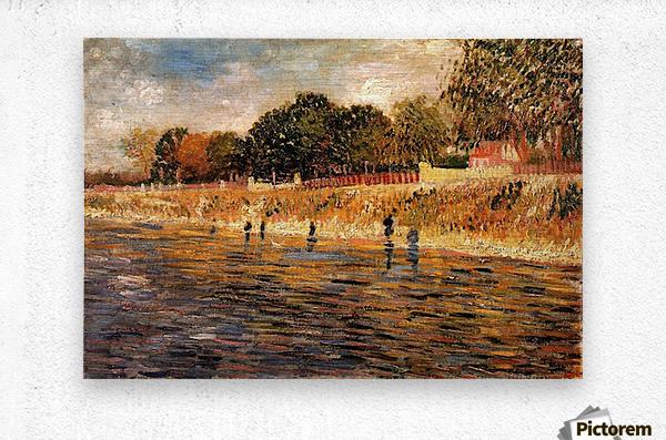 The Banks of the Seine by Van Gogh  Metal print