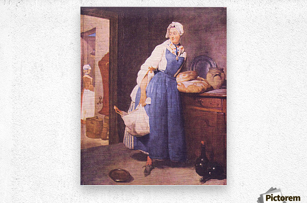 The bread by Jean Chardin  Metal print