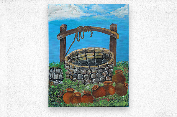 A lonely well  Metal print