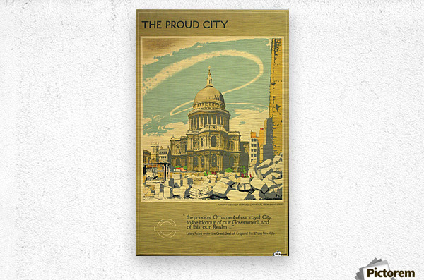The Proud City  Metal print