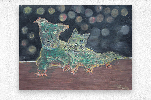 Dogs and cats  Metal print