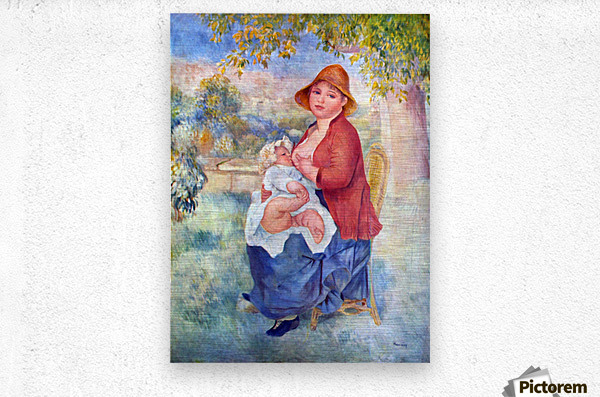 The child at the chest maternity by Renoir  Metal print