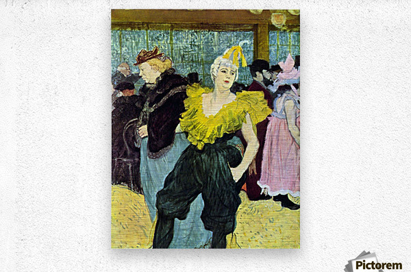 The clowness by Toulouse-Lautrec  Metal print