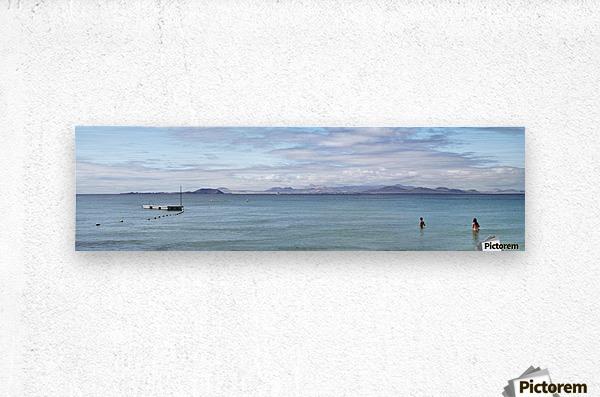 Panorama of Pontoon and Fuerteventura  Metal print