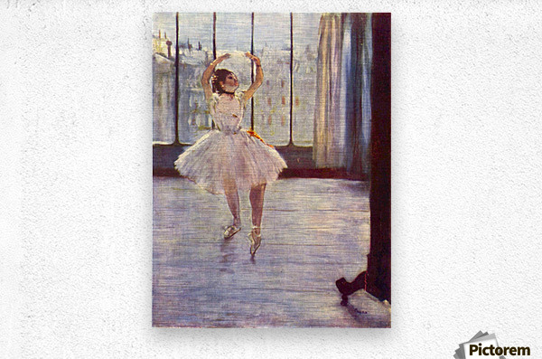 The dancer at the photographer by Degas  Metal print