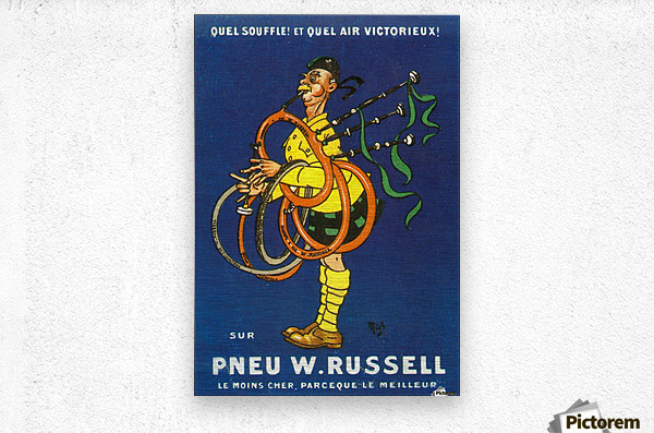 Pneu W.Russell  Impression metal